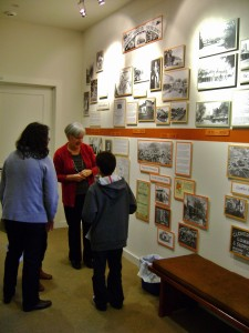Visitors at the History Center with Docent